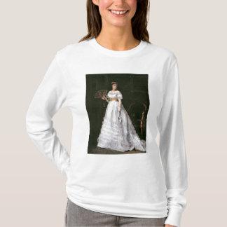 Frau im Weiß T-Shirt