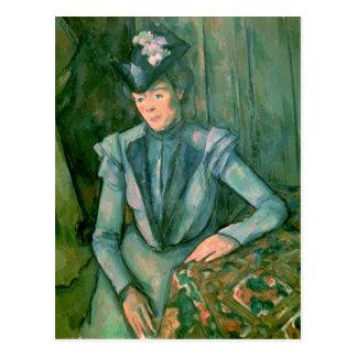 Frau in Blau 1900-02 Postkarte
