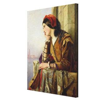 Frau in Liebe, 1856 Leinwand Druck