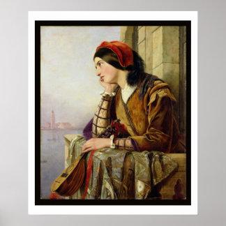 Frau in Liebe, 1856 Poster