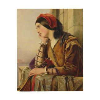 Frau in Liebe 1856 Holzleinwände