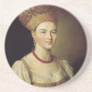 Frau in russischem Kostüm 1784 Untersetzer