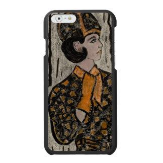Frau in Schwarzem und in der Orange Incipio Watson™ iPhone 6 Geldbörsen Hülle