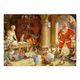 Frau Klaus u. Sankt-Elfe, die Weihnachtsplätzchen Karte