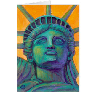Frau Liberty Karte