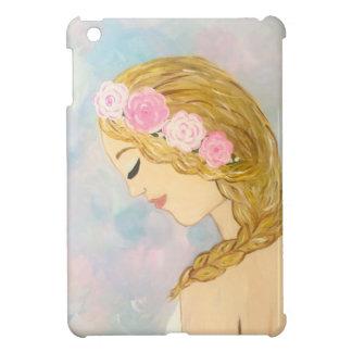 Frau mit Blumen in ihrem Haar iPad Mini Hülle