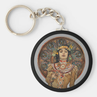 Frau mit Champagne-Glas Schlüsselanhänger