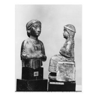 Frau mit dem Schal Postkarte