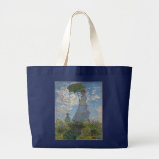 Frau mit einem Sonnenschirm durch Claude Monet Jumbo Stoffbeutel