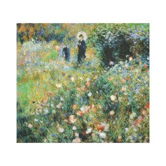 Frau mit einem Sonnenschirm in einer Garten Renoir Leinwanddruck