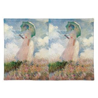 Frau mit Sonnenschirm-Promenade Monet Tischset