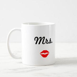 Frau Mug mit den Lippen Kaffeetasse
