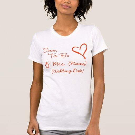 Frau (Namens) T - Shirt bald sein
