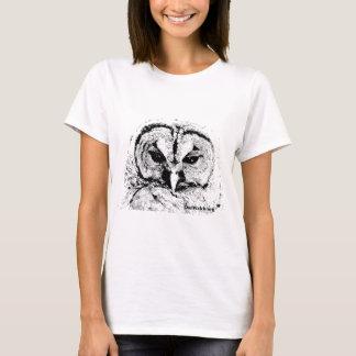Frau Owl Mar2015 - Schwarzes auf Weiß T-Shirt
