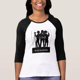(Frau) sind wir das Ingenieurbaseballt-stück T-Shirt
