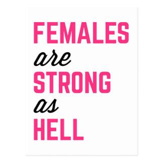 Frau-starkes Höllen-Turnhallen-Zitat Postkarte