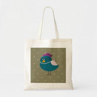 Frau Turquoise Bird Tote Bag Tragetasche