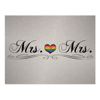 Frau u. Frau Lesbian Design Postkarte