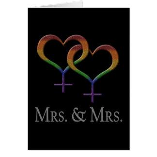 Frau und Frau Lesbian Pride Karte