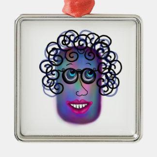 Frau von Ausdrücken Silbernes Ornament
