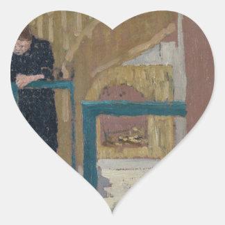 Frau Vuillard im Studio eines Set-Designers Herz-Aufkleber