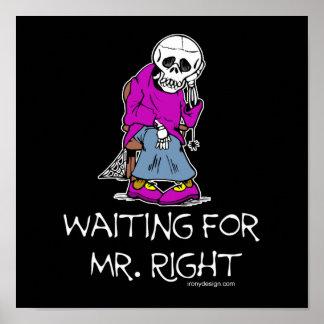 Frau wartete Mr.Right Poster
