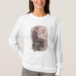 Frauen-auslaufendes Parfüm in einen Phial T-Shirt