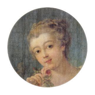 Frauen-Blumenstrauß-Rosen im Detail durch Francois Schneidebrett