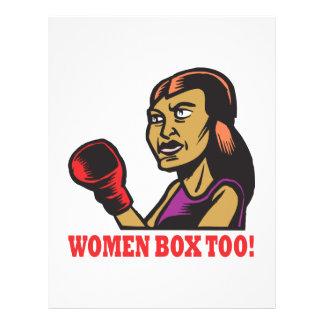 Frauen boxen auch flyerbedruckung
