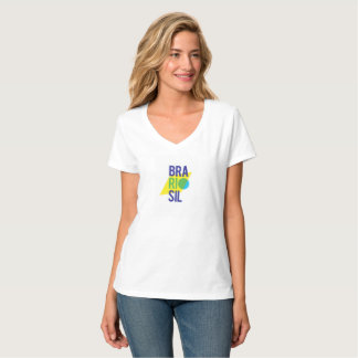 Frauen Brasiliens Rio V-Hals T-Shirt