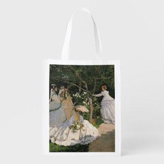Frauen Claude Monets | im Garten, 1866 Wiederverwendbare Einkaufstasche