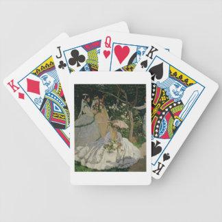 Frauen Claude Monets | im Garten Bicycle Spielkarten