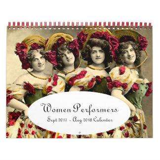 Frauen der Bühne --- Sept. 2017 - August 2018 Wandkalender