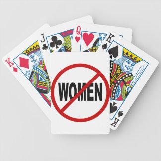 Frauen des Hass-Women/No Zeichen-Aussage erlaubt Bicycle Spielkarten