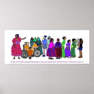 Frauen des Welt-PLAKATS - 2 Poster