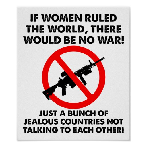 Frauen, die das Weltlustige Plakat anordnen