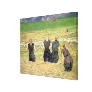 Frauen, die Dieppe durch Paul Gauguin baden Leinwanddruck