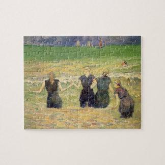 Frauen, die Dieppe durch Paul Gauguin baden Puzzle