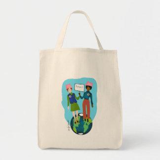Frauen, die Erde schützen Einkaufstasche