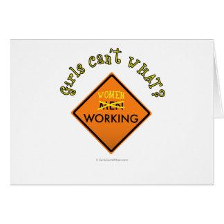 Frauen, die Zeichen Arbeits sind Karte