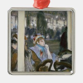 Frauen Edgar Degass   auf einer Café-Terrasse, Silbernes Ornament