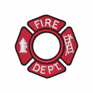 Frauen-Feuerwehrmänner stickten Shirt