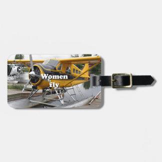 Frauen fliegen: Floss-Flugzeug, See-Haube, Alaska Gepäckanhänger