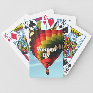Frauen fliegen: Heißluftballon Bicycle Spielkarten