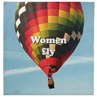 Frauen fliegen: Heißluftballon Stoffserviette