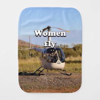 Frauen fliegen: Hubschrauber (weiße) 2 Baby Spucktuch