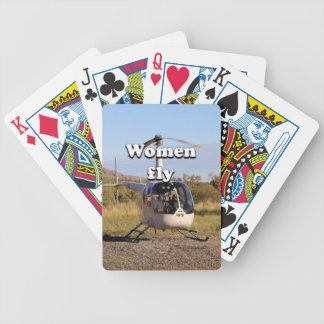 Frauen fliegen: Hubschrauber (weiße) 2 Bicycle Spielkarten