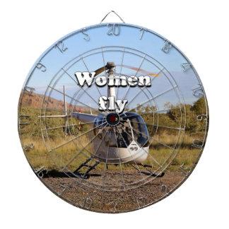 Frauen fliegen: Hubschrauber (weiße) 2 Dartscheibe