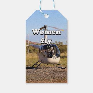 Frauen fliegen: Hubschrauber (weiße) 2 Geschenkanhänger