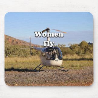 Frauen fliegen: Hubschrauber (weiße) 2 Mousepads